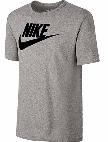 Nike Futura Icon T-Shirt - Men's (Heather Silver/Black, Large)