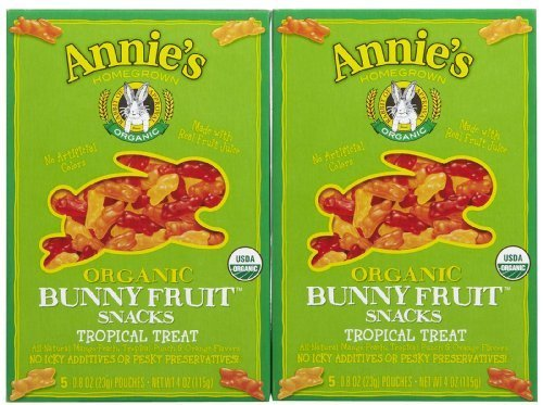Annie's Homegrown Organic Bunny Fruit Snacks Tropical Treat -- 0.8 oz Each / Pack of 5 by Annie's Homegrown