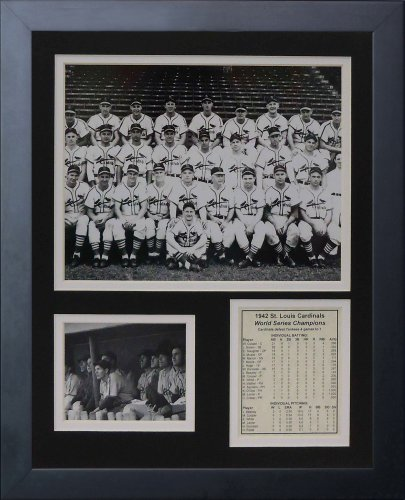 1942 Framed - Legends Never Die 1942 St. Louis Cardinals Framed Photo Collage, 11x14-Inch