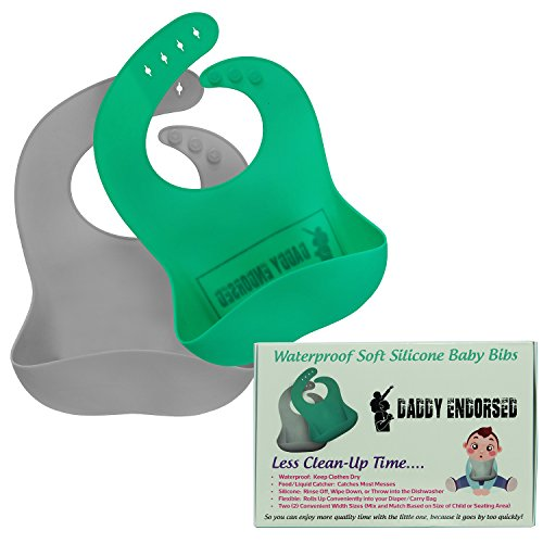 Waterproof Silicone Baby Bib for Boy/Girl by Daddy Endorsed