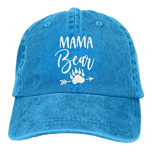 SR-Home Mama Bear Ftprint Polo Style Classic Baseball Dad Hat for Women and Men -