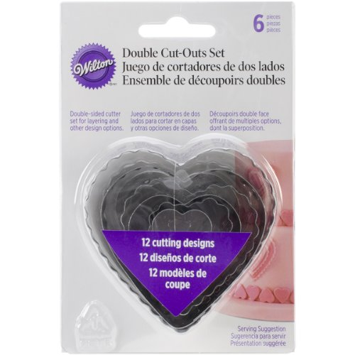 (Wilton 417-2588 6-Piece Nesting Fondant Double Sided Cut Out Cutters, Hearts)