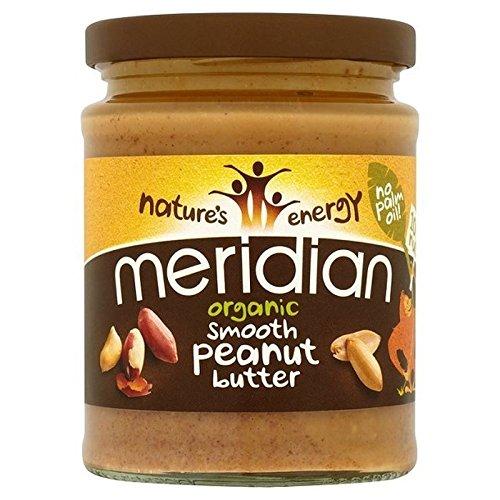Meridian Organic Peanut Butter Smooth No Salt 280g - Pack of 2
