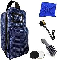 FINGER TEN Shoe Bag for Men Women, Large Waterproof Portable Zipper Space Pouch Organizer for Cycling Gym Spor