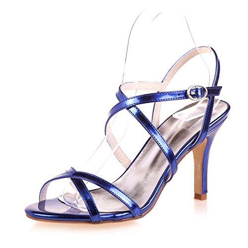 L@YC Damen Hochzeit Sandalen / Peep Toe / Plattform / Frühling und Sommer Satin Hochzeit abend 9920-08 Blue