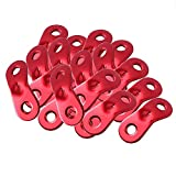 20 PCS Tent Cord Tensioner ,8 Pieces Tent Stakes,Camping Accessories Tent Rope Adjuster Guy Rope Tensioner Rope Adjuster for Camping Tent Canopy Tent Tabernacle Lodge Random Color