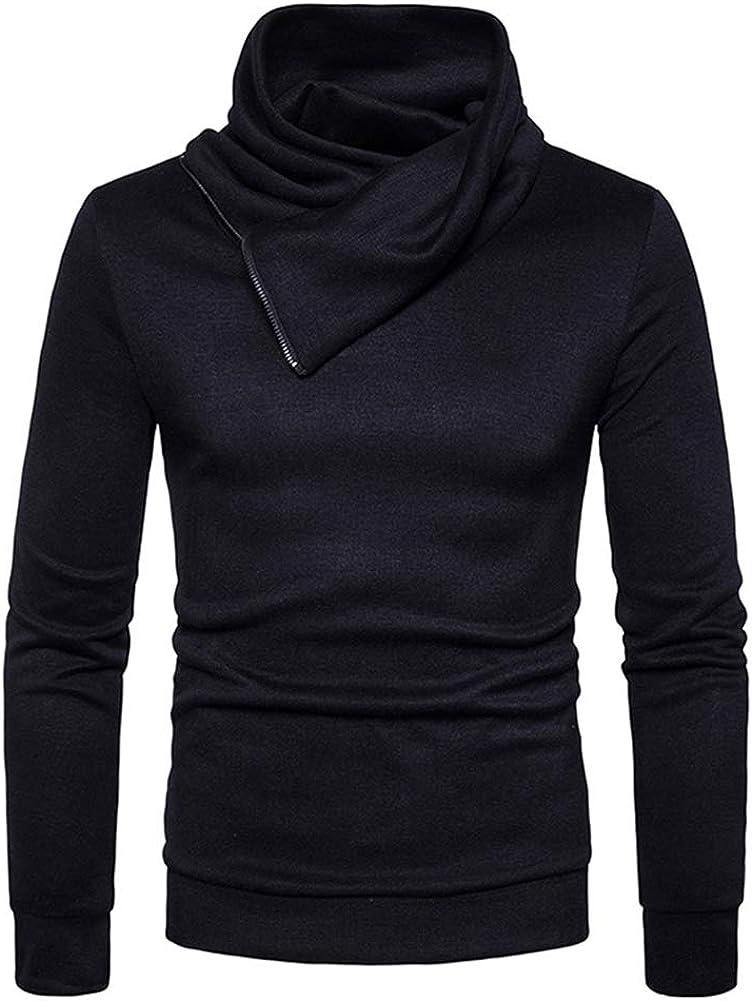 WLZQ Suéter Casual para Hombre Ouma Suéter De Punto Delgado Suéter De Moda Suéter Diseño De Cremallera Ouma