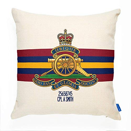 ChristBess Personalized Royal Artillery Cushion Cover Pillow | British Army | Military ()