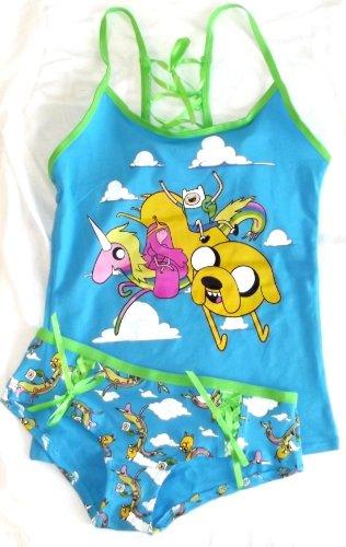 Adventure Time Buddy Back Cami Tank and Panty Set (Juniors X-Large) (Adventure Time Panties)