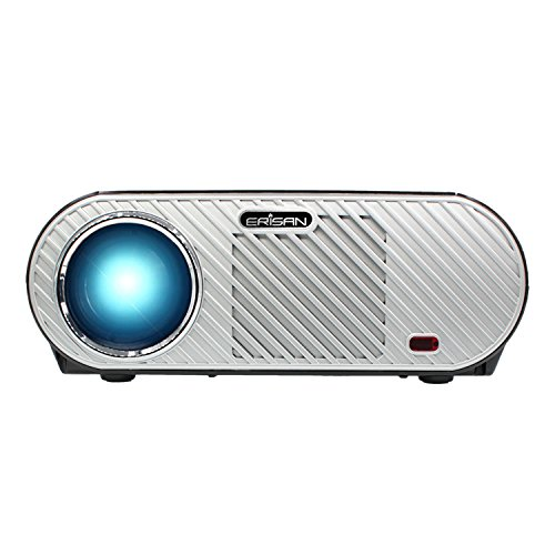 ERISAN HD Proyector (Warranty Included), 3500 LED Luminous Efficiency Multimedia Projector, Resolution 1280x800, Support 1080P Home Cinema Theater (Ultra High Resolution Dual Beam)
