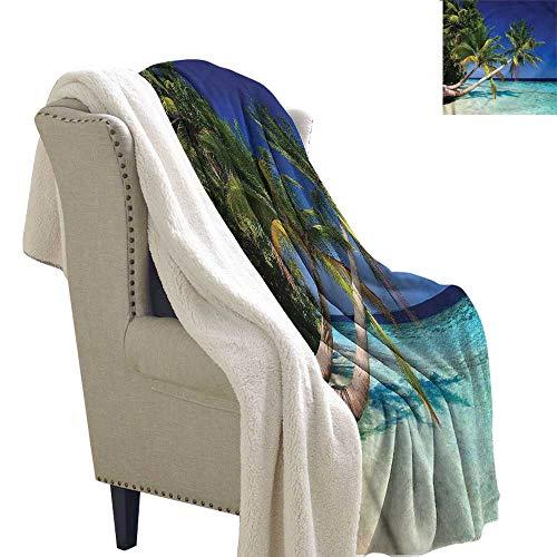 Acelik Winter Quilt Ocean Maldives Bay Resort Upgraded Thick Lazy Blanket Blanket W59 x L47