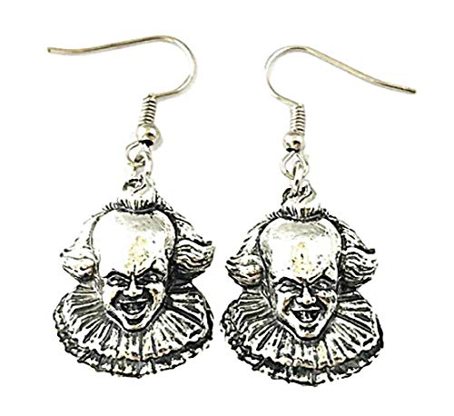 New Horizons Production Stephen Kings IT Penny Wise 3D Horror Movie French Wire Earrings