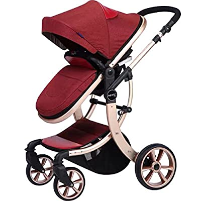 AIMILE Newborn Baby Pram Infant Foldable Anti-shock High View Jogger Stroller Multi-Positon Reclining Seat Stroller Pushchair by OLizee that we recomend personally.