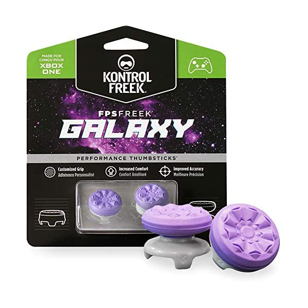 KontrolFreek FPS Freek Galaxy Purple for Xbox One and Xbox Series X Controller | 2 Performance Thumbsticks | 1 High-Rise… 1