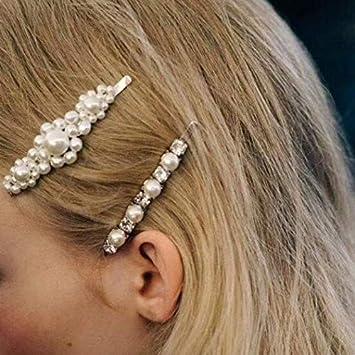 Horquillas para el pelo ni/ña Dorado Clips Pelo Perla Joyer/ía Mujer Accesorios para el Cabello Pinza Grande Brillo Ni/ña para Fiestas Boda Chica Nupcial Plaza Clip de Perla Completo Regalo para Mujer