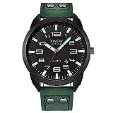 Luxury Men Sport Watches, Yezijin Leather Strap Simple Calendar Luminous Dial Outdoor Men's Quartz Watch for Father Men Kids Youth Teens Boyfriend Lover's Birthday Gift
