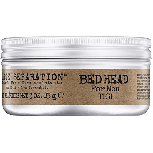 TIGI Bed Head For Men: Matte Separation Workable Wax, 3 oz (Tigi Bed Head Men Matte Separation Wax)