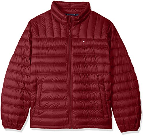 Long Down Down Tommy Outerwear Coat Jacket Hilfiger Sleeve Red Big Packable mens w6UYq1Z