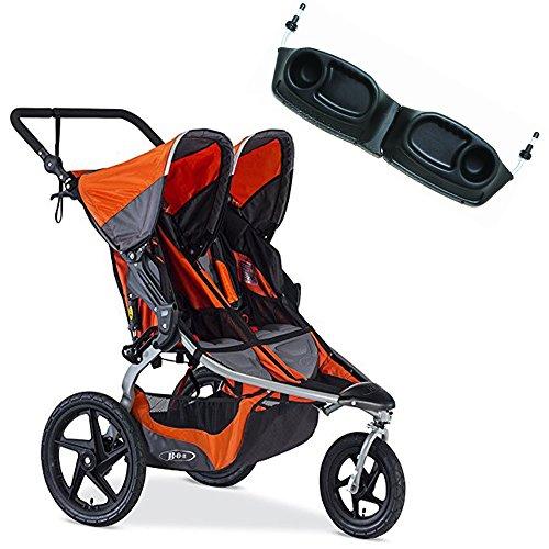 BOB Revolution Flex Duallie Stroller With Snack Tray Bundle (Canyon)