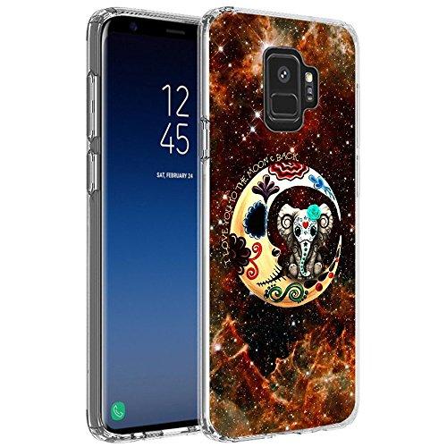 Case for Samsung Galaxy S9 Nebula Mandala ElephantChyFS Phone CaseTPU Protective Clear Case