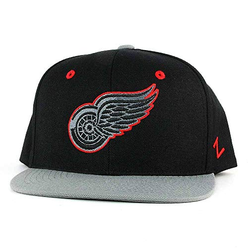 Detroit Red Wings Youth Blackout Snapback Cap by Zephyr (Detroit Red Wings Snap)