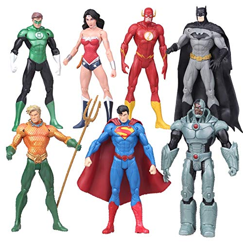 PAPIN Set 7 Action Figures 6.7 inch Hot Toys Universe Legends Series Figure Mini Small Hero Model Doll Toy Christmas Halloween Collectable Gift Collectibles Big Large Collectible Gifts for Kids Baby
