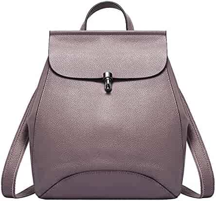 MuLier Women s Genuine Leather Backpack Purse Ladies Casual Shoulder Bag  School Bag for Girls 62fd02ecfeb15