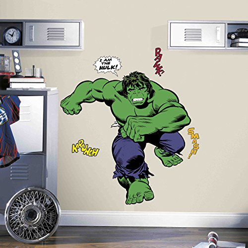 Hulk Peel - RoomMates Classic Hulk Comic Peel And Stick Giant Wall Decals