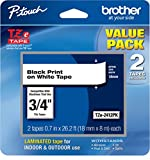 Brother Genuine, TZe2412PK, 2 Pack of Label