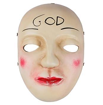 Gmasking resina la purga Anarchy James Sandin dios máscara réplica + gmask llavero