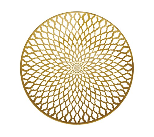 Kim Seybert 15'' Souk Placemat Gold Set of 4 by Kim Seybert