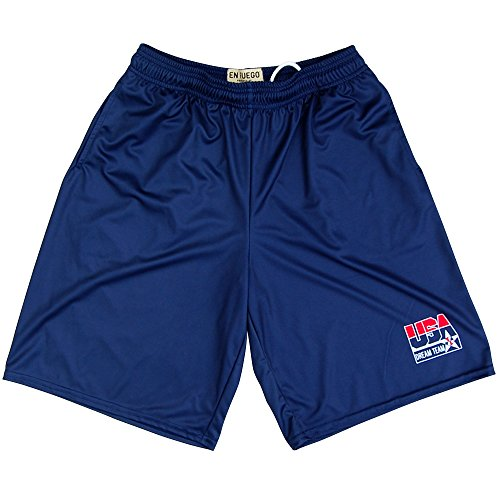 USA Dream Team Basketball Shorts, Navy, Adult Medium