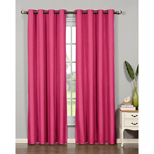 "Bella Luna Euphoria Microfiber Room Darkening Extra Wide 108 x 84"" Grommet Curtain Panel Pair, Pink"
