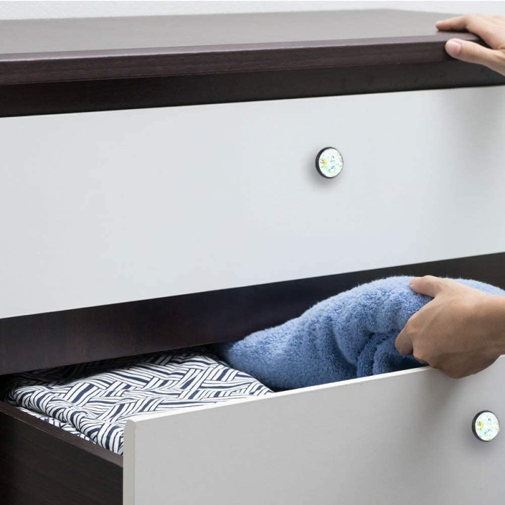 Poignee de porte Poignees de porte Bouton de tiroir tiroirs paquet de 4 armoires Requin bleu Bouton meuble pour portes