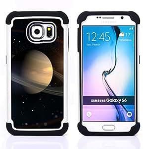 - Space Planet Galaxy Stars 16/ H??brido 3in1 Deluxe Impreso duro Soft Alto Impacto caja de la armadura Defender - SHIMIN CAO - For Samsung Galaxy S6 G9200
