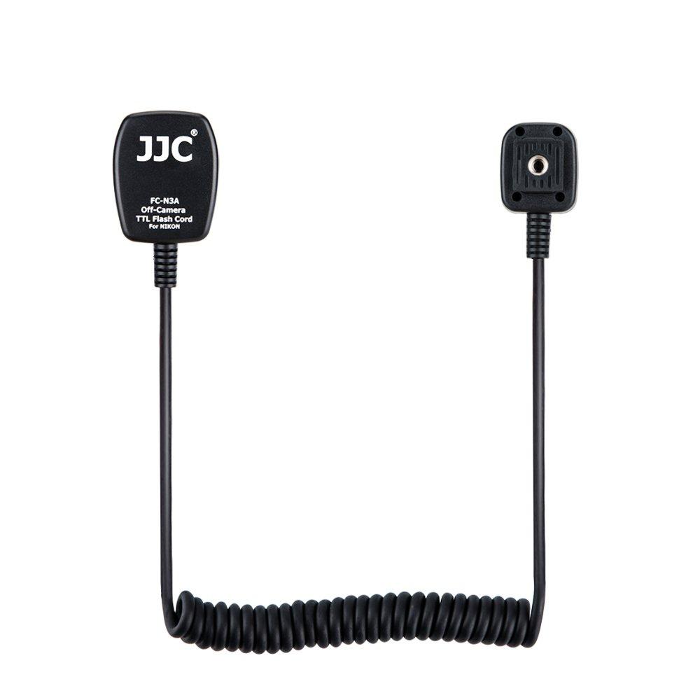 Flash TTL Cord JJC Off-Camera Flash Hot Shoe Cord for Nikon D7200 D5600 D5500 D5300 D5000 D3400 D3300 D3200 D850 D810 D750 D700 D500 D5,etc, Replaces Nikon SC-28 Cord-1.3m