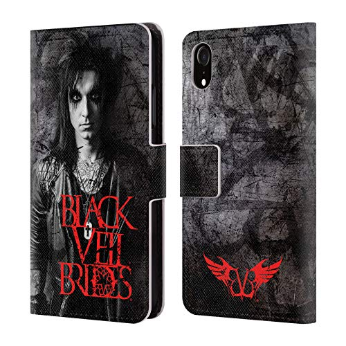 Jake Leather Big - Official Black Veil Brides Jake Band Members Leather Book Wallet Case Cover for iPhone XR