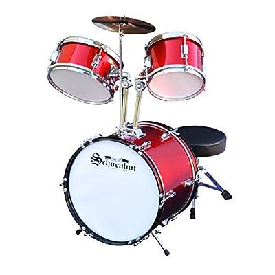 Schoenhut C1020 - 5 Piece Drum Set (Red): Toys & Games