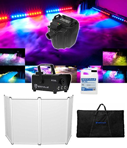 Chauvet DJ Nimbus Pro Plug/Play Dry Ice Fog Machine+DJ Facade+LED Fogger+Fluid by Chauvet