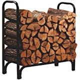 Panacea 15203 Deluxe Outdoor Log Rack, Black, 4-Feet