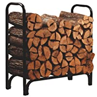 Panacea 15203 Deluxe Outdoor Log Rack, Black, 4-Feet