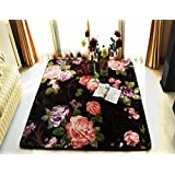 MeMoreCool Delicate Flowers Design Living Room/Bedroom Carpets,Upgrade Thicken Large Home Decor Area Rug,Baby...