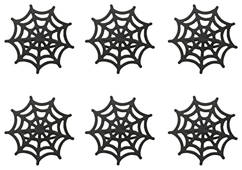 DII Spooky Napkin Rings for Holloween Parties, Themed Gatherings, or When Hosting a Scary Movie Night, Set Your Table with Style - Black Spider Web, Set of 6]()