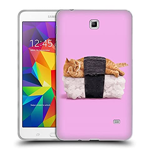 Official Paul Fuentes Sushi Cat Pastels 2 Soft Gel Case for Samsung Galaxy Tab 4 7.0 (Sus Tab)