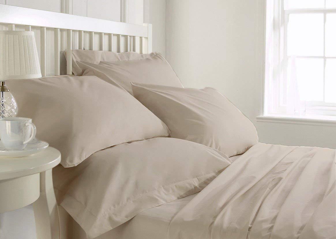 Dormica 本物のエジプト綿シーツセット 19インチまでの厚さのマットレスに適合 1000スレッドカウント カラー ホワイト 無地 サイズ キング フル B07NVD7X39 アイボリー(Ivory) フル