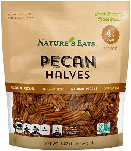 Natures Eats Pecan Halves Ounce product image
