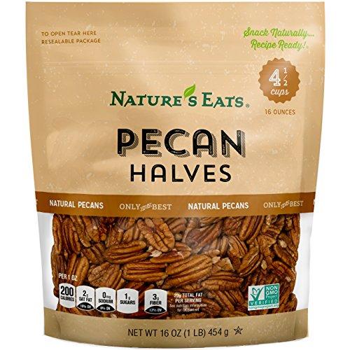 Nature's Eats Pecan Halves, 16 Ounce
