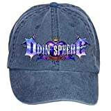 Nusajj Odin Sphere Leifdrasir Logo Unstructured 100% Cotton Caps Design for Women Navy One Size