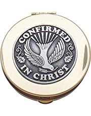 "CA Gift BX102 Confirmation Rosary Keepsake Box, 2-1/8"""