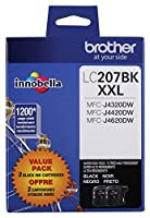 Brother Printer LC2072PKS Multi Pack Ink Cartridge, Black - Pack of 2 from Brother Printer